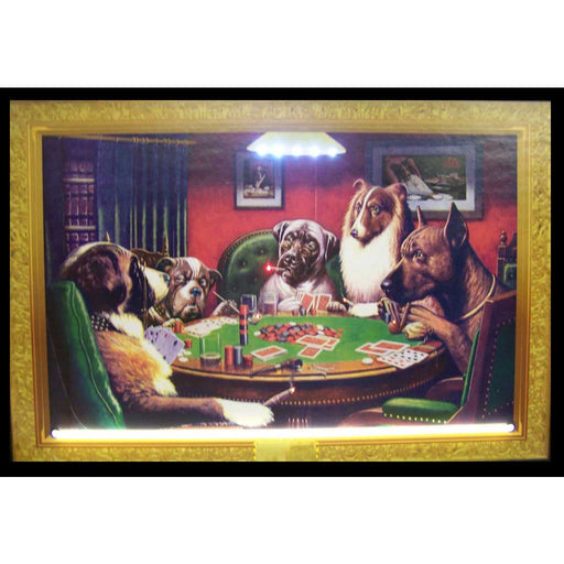 Dogs Playing Poker Neon/LED Picture | Man Cave Authority | 3DOGPK