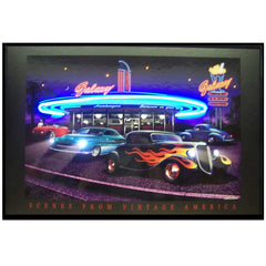 Galaxy Diner Neon/LED Picture | Man Cave Authority | 3GALNL