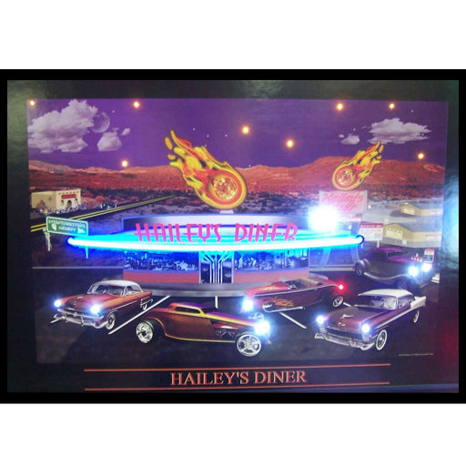 Haileys Diner Neon/LED Picture | Man Cave Authority | 3HAINL