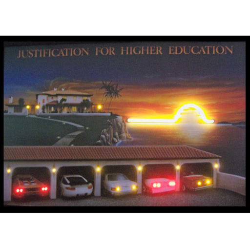 Justification for Higher Education Neon/LED Picture | Man Cave Authority | 3JUSTI