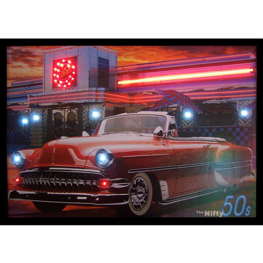 Nifty 50's Neon/LED Picture | Man Cave Authority | 3N5ONL