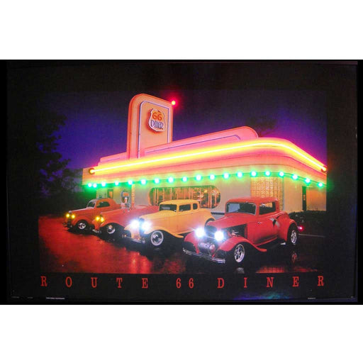 Route 66 Diner Neon/LED Picture | Man Cave Authority | 3R66NL