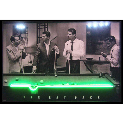 Rat Pack Neon/LED Picture | Man Cave Authority | 3RATNL