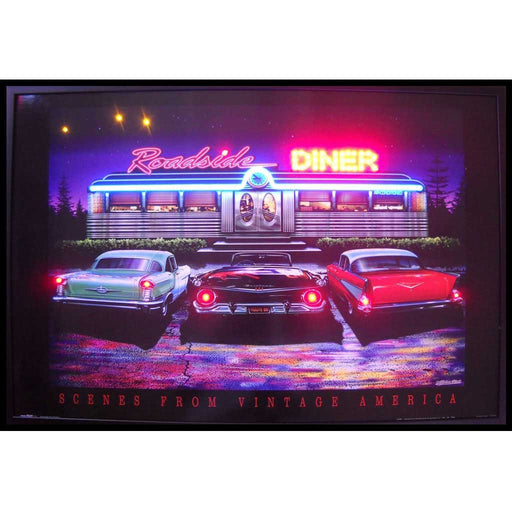 Roadside Diner Neon/LED Picture | Man Cave Authority | 3RSDNL