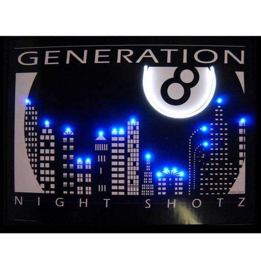 Night Shotz Generation 8 Neon/LED Picture | Man Cave Authority | 3SHOTZ