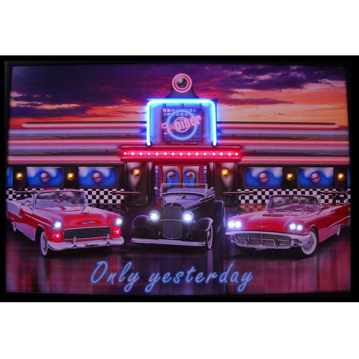 Only Yesterday Neon/LED Picture | Man Cave Authority | 3YESTX