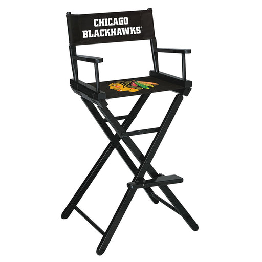 Chicago Blackhawks Bar Height Directors Chair | Man Cave Authority | IMP 400-4102