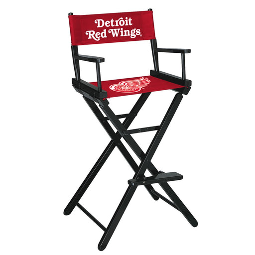 Detroit Red Wings Bar Height Directors Chair | Man Cave Authority | IMP 400-4105