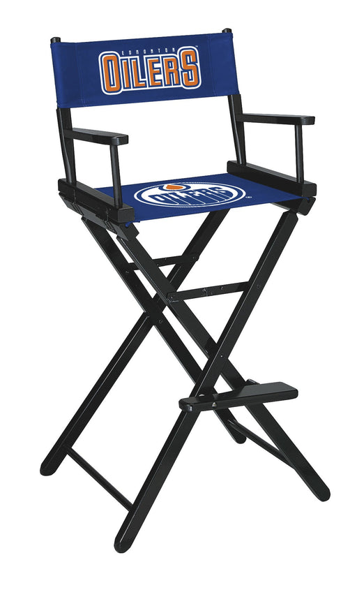 Edmonton Oilers Bar Height Directors Chair | Man Cave Authority | IMP 400-4113