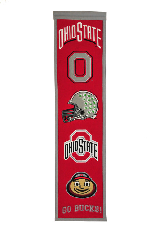 Ohio State University Heritage Banner | Man Cave Decor | 45014
