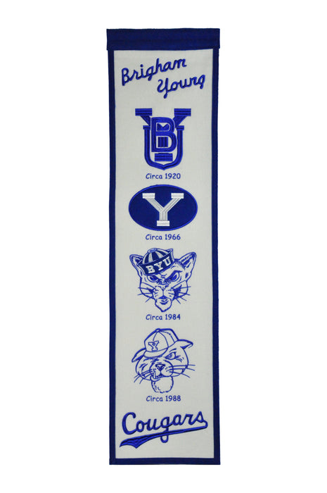 Brigham Young University (BYU) Heritage Banner | Man Cave Decor | 45015