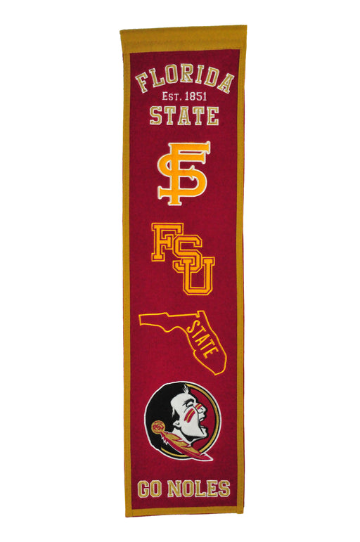 Florida State University Heritage Banner | Man Cave Decor | 45028