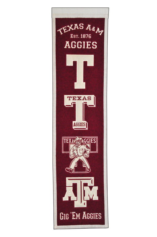 Texas A&M Heritage Banner | Man Cave Decor | 45044