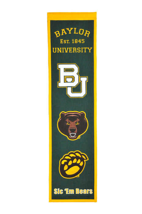 Baylor University Heritage Banner | Man Cave Decor | 45058