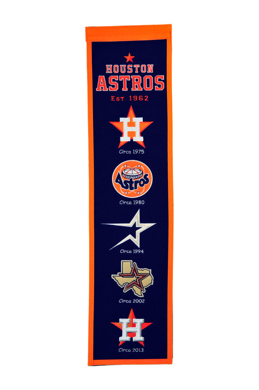 Houston Astros Heritage Banner | Man Cave Decor | 46025
