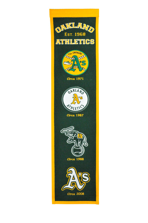 Oakland Athletics Heritage Banner | Man Cave Decor | 46036