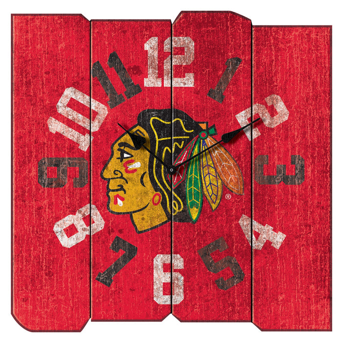Chicago Blackhawks Vintage Square Clock | Man Cave Authority | IMP 471-4002