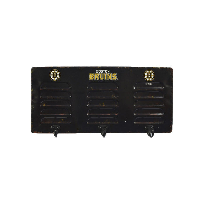 Boston Bruins 3 Hook Metal Coat Rack | Man Cave Authority | IMP 473-4001