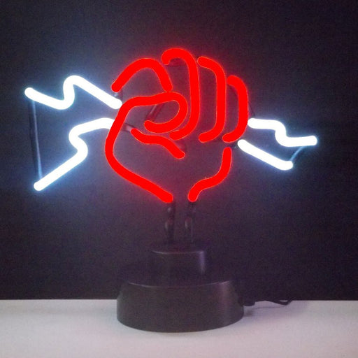 Fist With Lightning Neon Sculpture | Man Cave Authority | 4FISTX