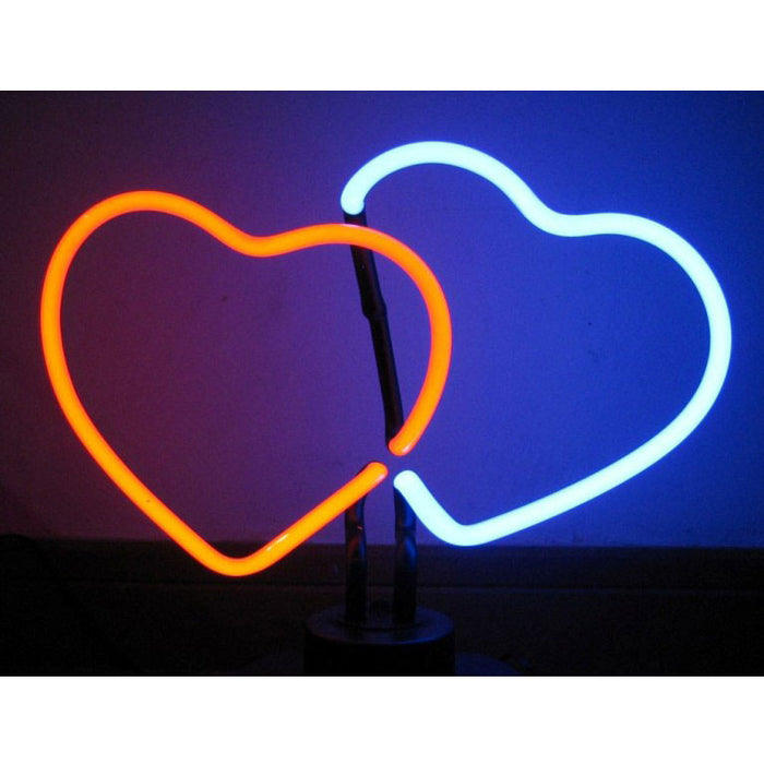 Double Hearts Neon Sculpture | Man Cave Authority | 4HEART