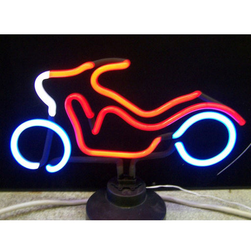 Motorcycle Neon Sculpture | Man Cave Authority | 4MOTOR