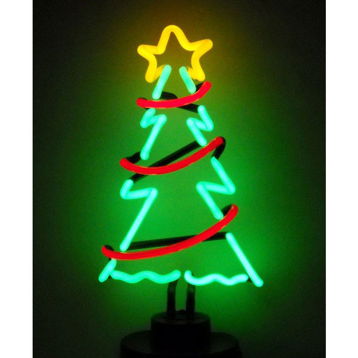 Christmas Tree With Garland Neon Sculpture | Man Cave Authority | 4XMASG