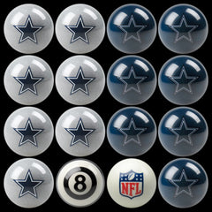 Dallas Cowboys Home Vs. Away Billiard Ball Set | Man Cave Authority | IMP 50-1102