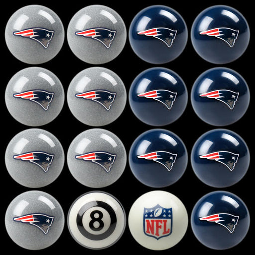 New England Patriots Home Vs. Away Billiard Ball Set | Man Cave Authority | IMP 50-1111