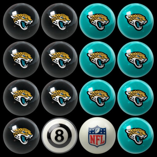 Jacksonville Jaguars Home Vs. Away Billiard Ball Set | Man Cave Authority | IMP 50-1115