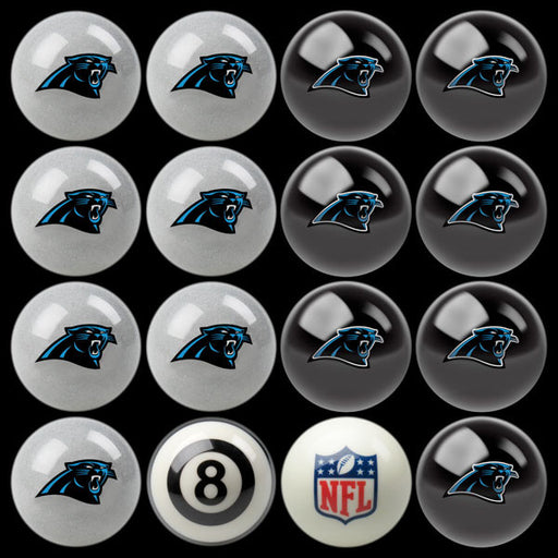 Carolina Panthers Home Vs. Away Billiard Ball Set | Man Cave Authority | IMP 50-1117