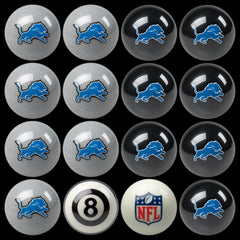 Detroit Lions Home Vs. Away Billiard Ball Set | Man Cave Authority | IMP 50-1118