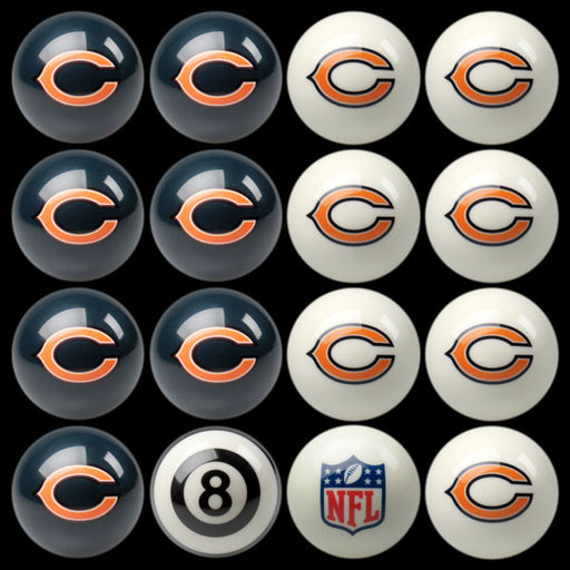 Chicago Bears Home Vs. Away Billiard Ball Set | Man Cave Authority | IMP 50-1119