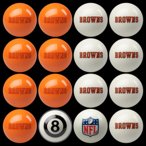 Cleveland Browns Home Vs. Away Billiard Ball Set | Man Cave Authority | IMP 50-1120