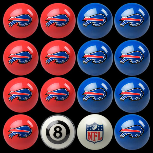 Buffalo Bills Home Vs. Away Billiard Ball Set | Man Cave Authority | IMP 50-1121