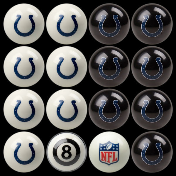 Indianapolis Colts Home Vs. Away Billiard Ball Set | Man Cave Authority | IMP 50-1122