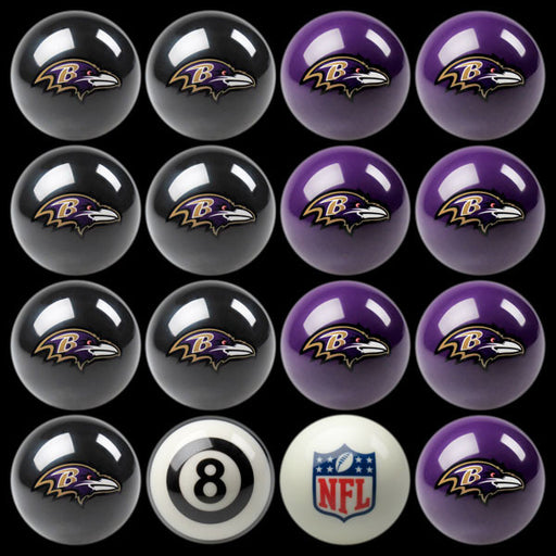 Baltimore Ravens Home Vs. Away Billiard Ball Set | Man Cave Authority | IMP 50-1125