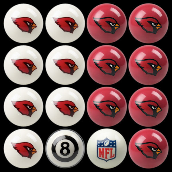 Arizona Cardinals Home Vs. Away Billiard Ball Set | Man Cave Authority | IMP 50-1129