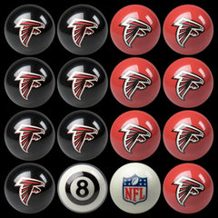 Atlanta Falcons Home Vs. Away Billiard Ball Set | Man Cave Authority | IMP 50-1130