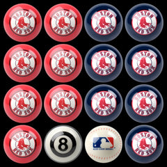 Boston Red Sox Home Vs. Away Billiard Ball Set | Man Cave Authority | IMP 50-2103