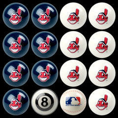 Cleveland Indians Home Vs. Away Billiard Ball Set | Man Cave Authority | IMP 50-2104