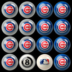 Chicago Cubs Home Vs. Away Billiard Ball Set | Man Cave Authority | IMP 50-2105