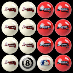 Atlanta Braves Home Vs. Away Billiard Ball Set | Man Cave Authority | IMP 50-2110