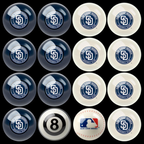 San Diego Padres Home Vs. Away Billiard Ball Set | Man Cave Authority | IMP 50-2111