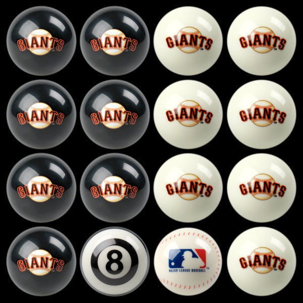 San Francisco Giants Home Vs. Away Billiard Ball Set | Man Cave Authority | IMP 50-2112
