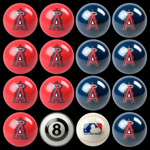 Anaheim Angels Home Vs. Away Billiard Ball Set | Man Cave Authority | IMP 50-2113