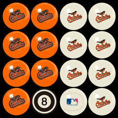 Baltimore Orioles Home Vs. Away Billiard Ball Set | Man Cave Authority | IMP 50-2114