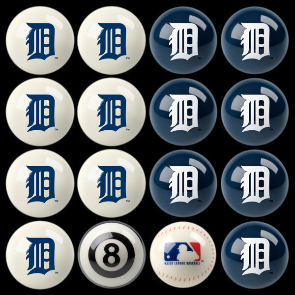 Detroit Tigers Home Vs. Away Billiard Ball Set | Man Cave Authority | IMP 50-2115