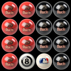 Arizona Diamondbacks Home Vs. Away Billiard Ball Set | Man Cave Authority | IMP 50-2122