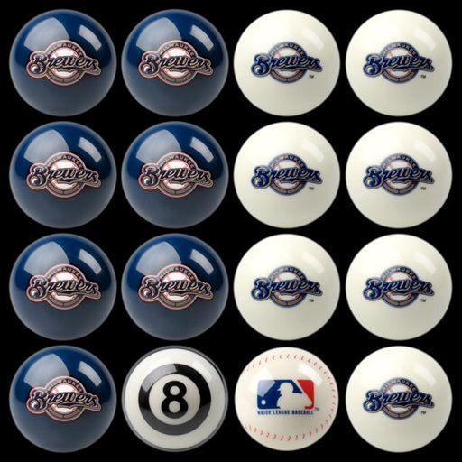 Milwaukee Brewers Home Vs. Away Billiard Ball Set | Man Cave Authority | IMP 50-2127