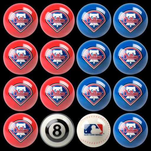 Philadelphia Phillies Home Vs. Away Billiard Ball Set | Man Cave Authority | IMP 50-2129